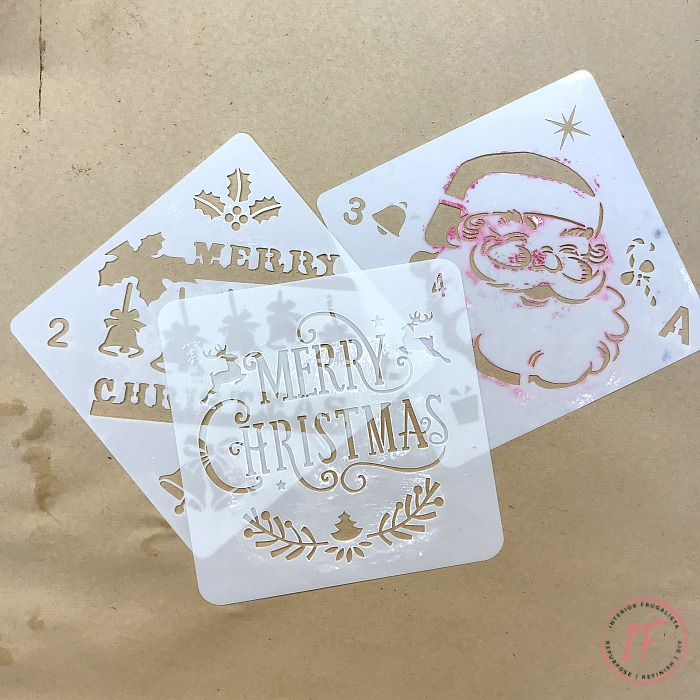 DIY Wooden Christmas Box Stencils