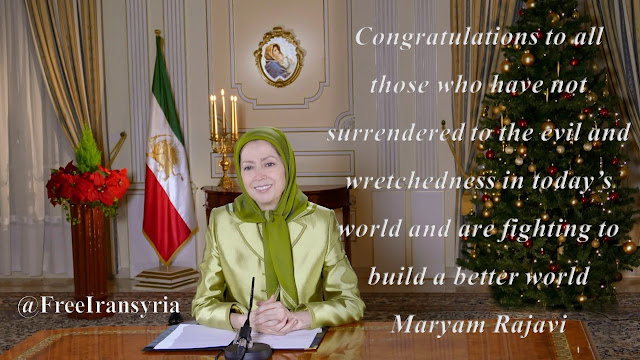 MARYAM RAJAVI'S CHRISTMAS AND NEW YEAR'S