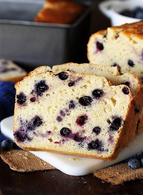 Slice of Buttermilk Blueberry Bread Image