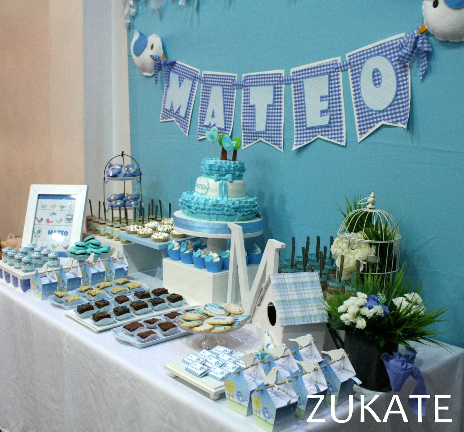 Fiesta de pajaritos para mateo zukate for Mesa dulce para bautismo