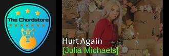 Julia Michaels - HURT AGAIN Guitar Chords (Inner Monologue Part 2) |