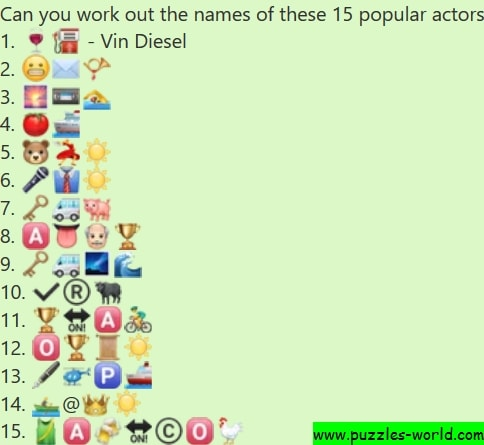 Name these 15 popular actors