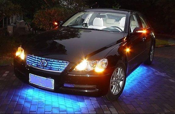 Dây đèn led chiếu sáng trang trí ngầm xe ô tô
