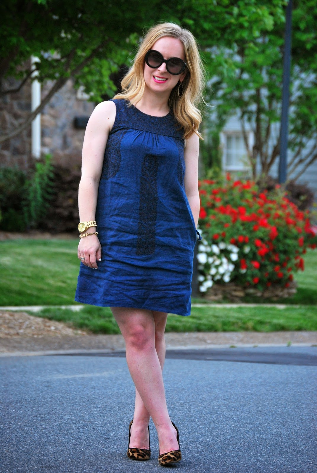 Madewell, JCrew, Kendra Scott, Spring fashion, linen shift dress