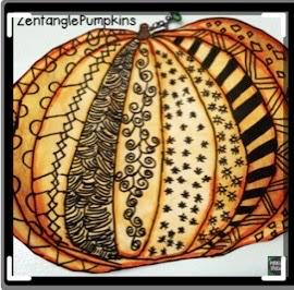 patterned pumpkin drawing