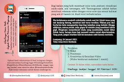 Challenge Voice Note Sajak Rindu Princess Meymey