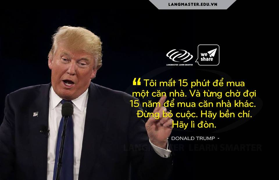 Câu nói hay của Donald TRump