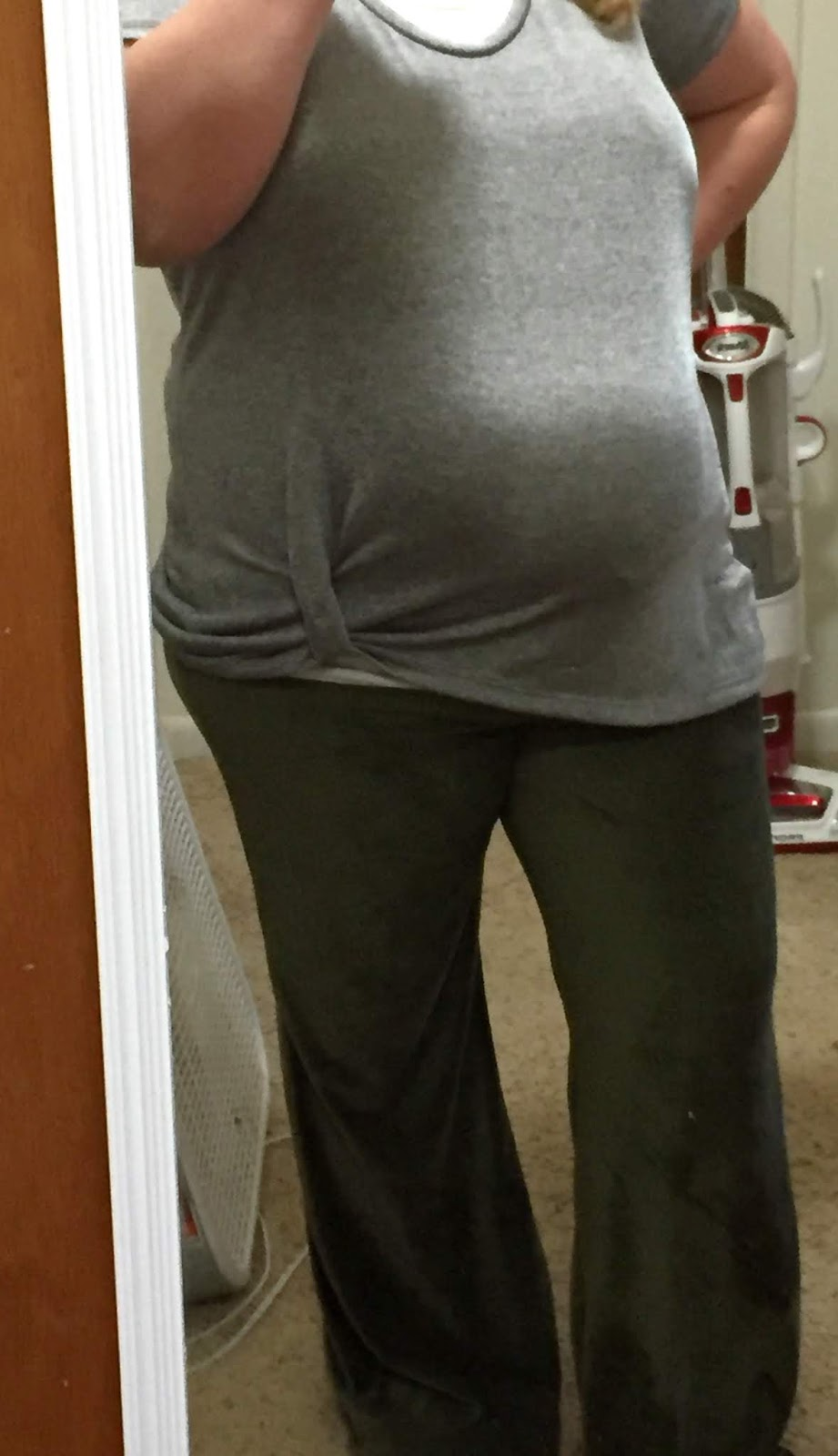 9c10b2f7d8 Pants selfie: Shakti Pants (bell option) by Designer Stitch; fabric is  stretch corduroy from So Sew English. Silver top: Mama Kourtney knot top by  Made for ...
