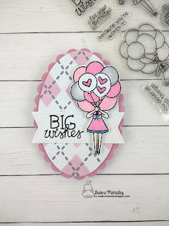 BIG Wishes a card by Diane Morales| Holding Happiness Stamp Set by Newton's Nook Designs