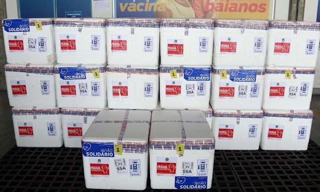 Bahia receberá mais de 347 mil doses de vacinas nesta sexta-feira (26)