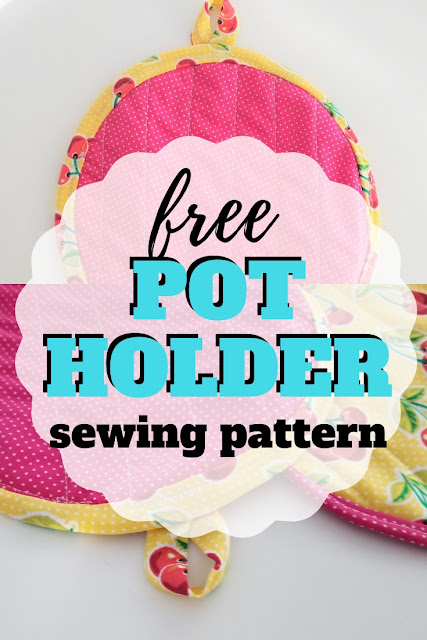Grab the free sewing pattern and learn how to make pot holders.
