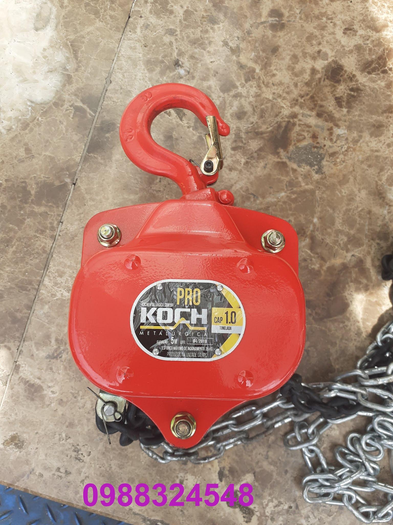 palang kéo tay Koch 1 tấn