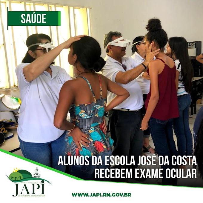 Alunos da Escola José da Costa recebem exame ocular