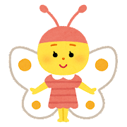 チョウのキャラクター(虫)