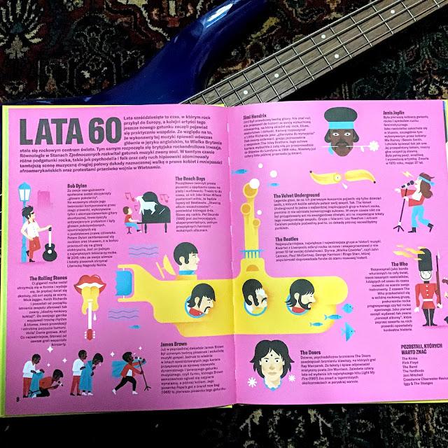 """""""Ilustrowana historia rocka"""" Susana Monteagudo, Lui Demano, Tata Robi Książki, wielkoformatowy album nie tylko dla dzieci o historii rocka"""
