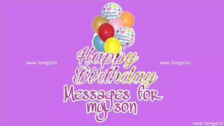 Birthday Messages for my son