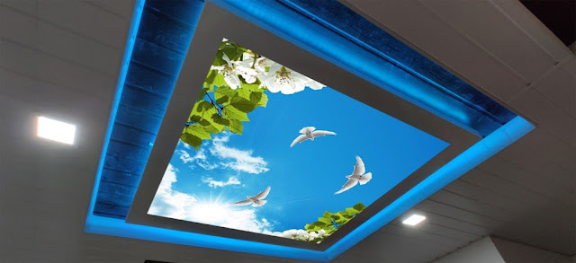 digital ceiling, interior design, false ceiling