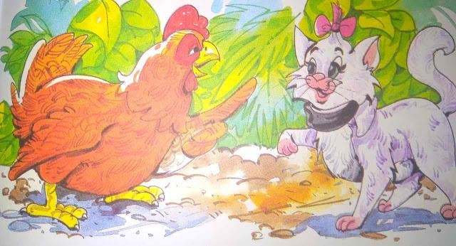 बीमार मुर्गी और बिल्ली (Top Short Story In Hindi For Class 4th)