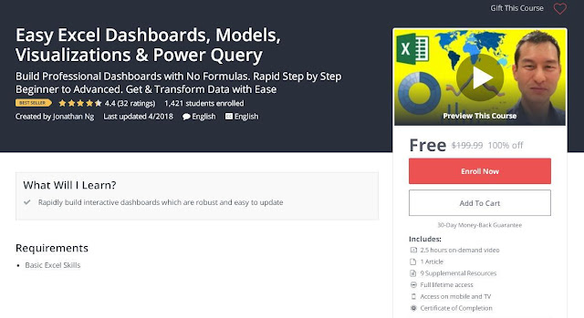 Easy Excel Dashboards, Models, Visualizations & Power Query