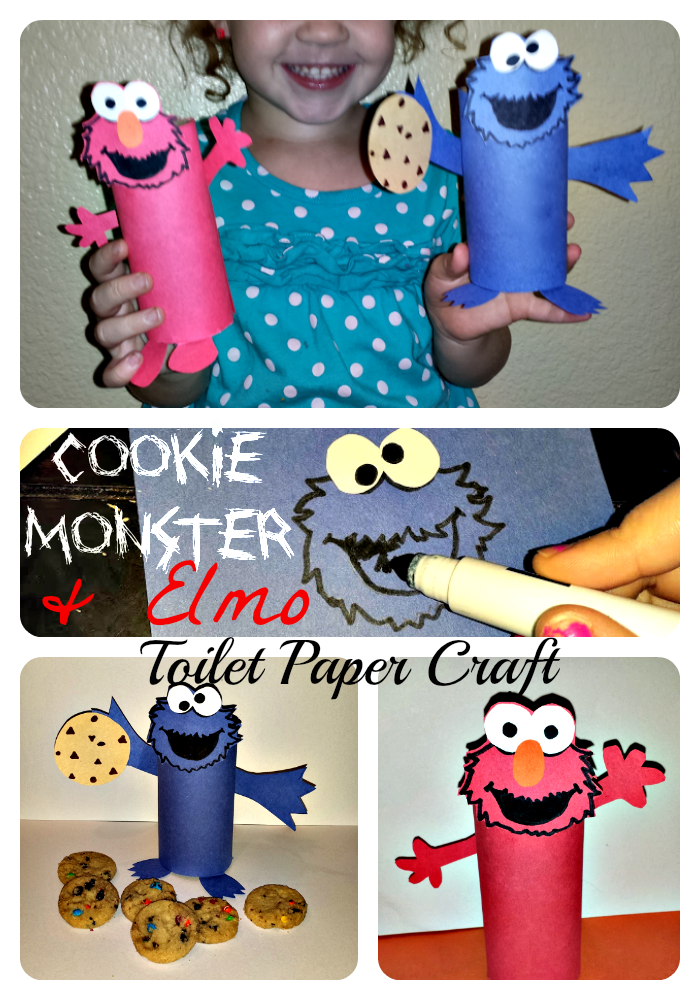 Cheap Elmo Cookie Monster Toilet Paper Roll Crafts For
