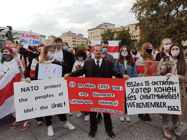 Беларусы Варшавы почтили Память защитников Казани!