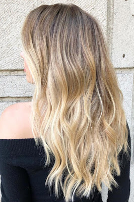 Honey Blond Ombre coloring hair 2018