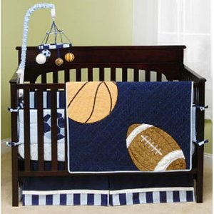 Nursery Room Ideas: Sport Theme Baby Crib Bedding Set