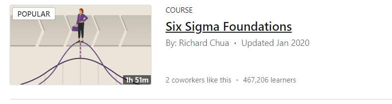 Six Sigma Foundations