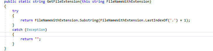 get file extension in c#