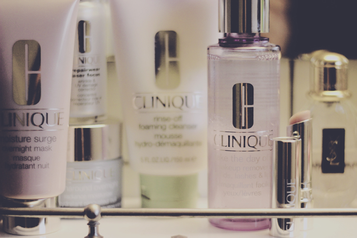 Clinique nightime skincare routine beauty blog review