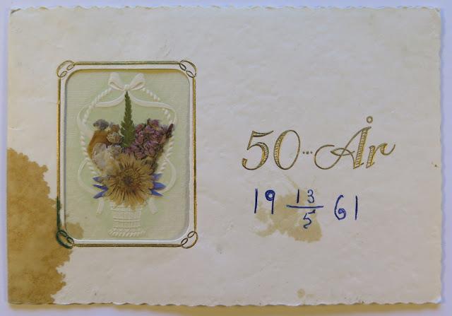 gratulationskort göteborg Nostalgorama: Gratulationskort till en som fyllde 50 år 1961 gratulationskort göteborg