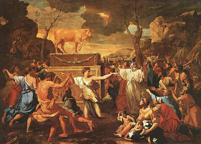 Adoration of the Golden Calf, Nicolas Poussin, 1633