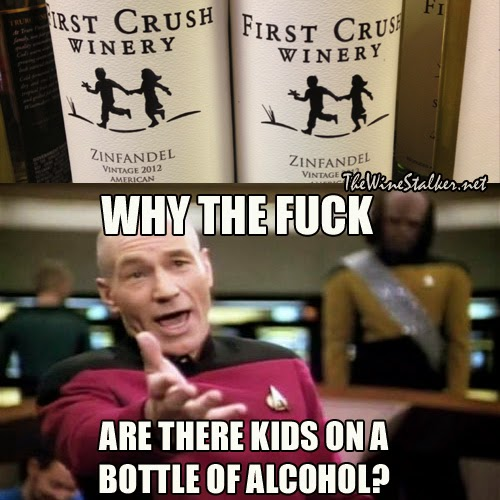 Why the fuck are there kids on a bottle of alcohol?