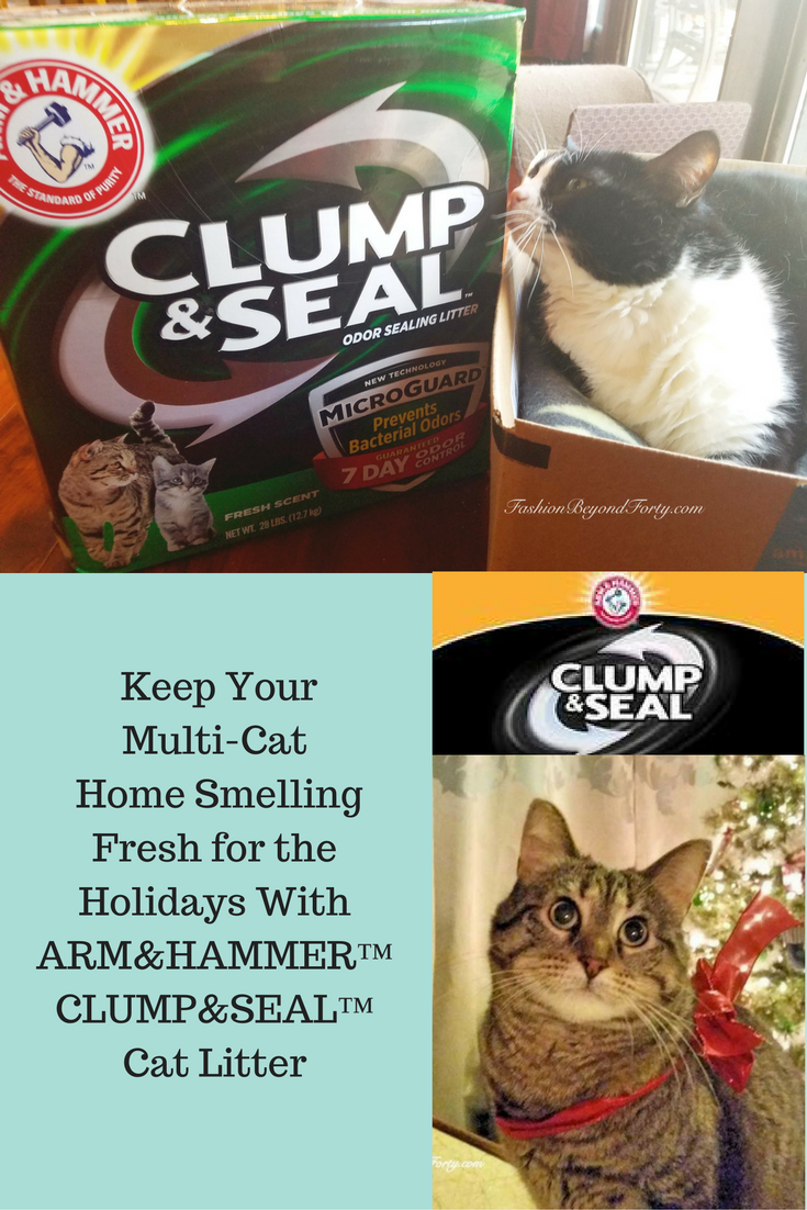 An Odor Free Home For The Holidays With ARM&HAMMER™ CLUMP&SEAL™ Cat Litter #CLUMPandSEAL