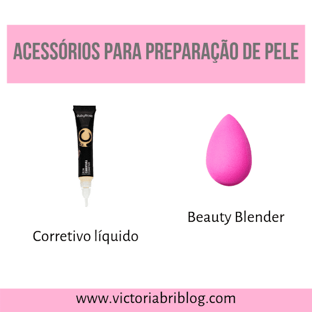 Beauty Blender e corretivo líquido