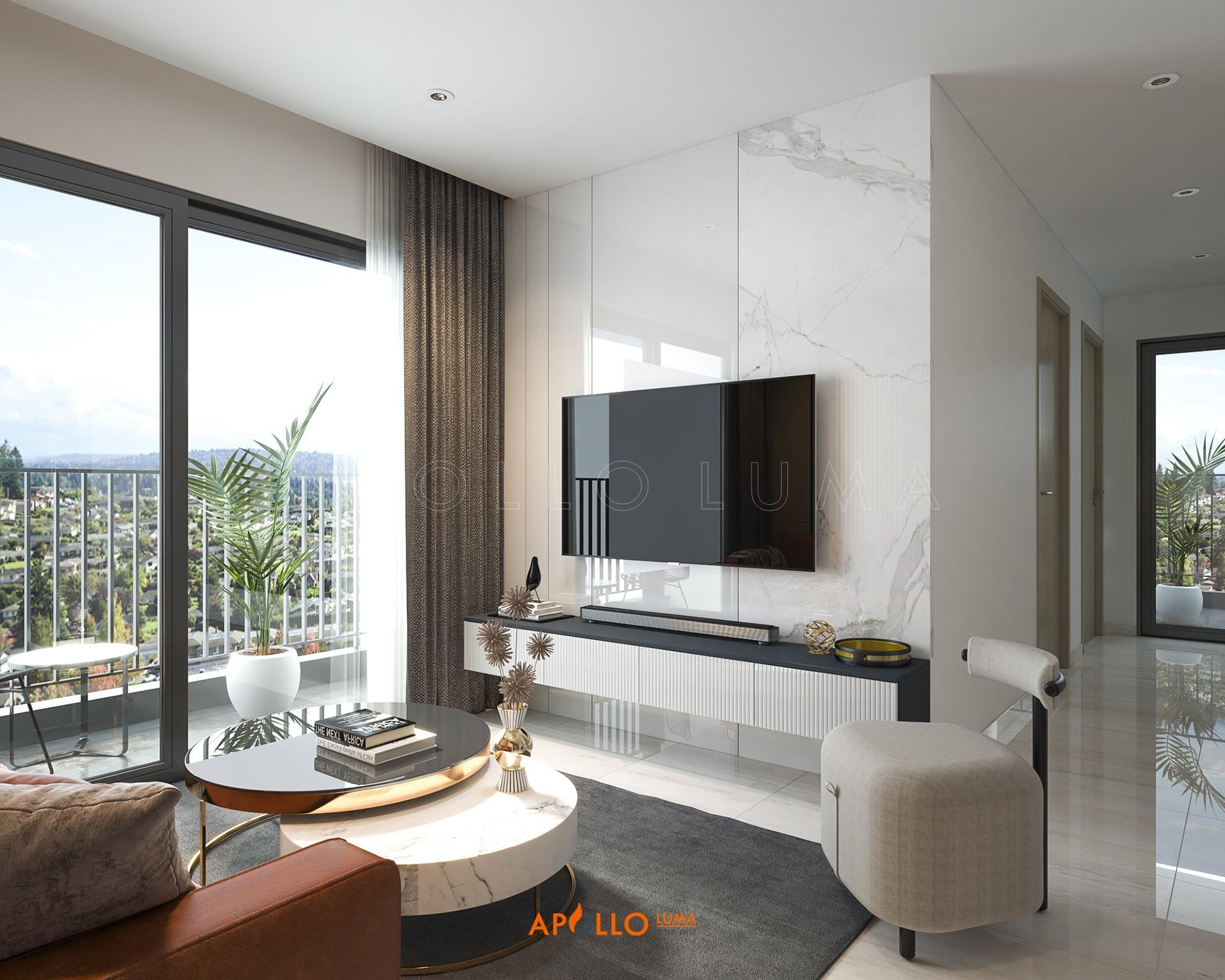 Thiết kế nội thất căn hộ 3 phòng ngủ Imperia Smart City Tây Mỗ