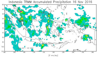 Data Curah Hujan TRMM di Seluruh Indonesia