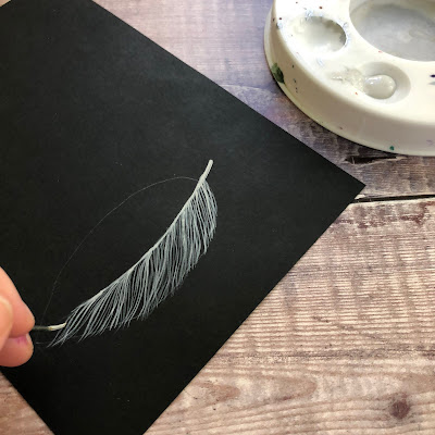 Painting feathers with You Can Folk It - how to