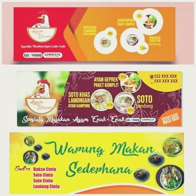 contoh gambar banner warung makan kumpulan foto contoh gambar banner warung makan