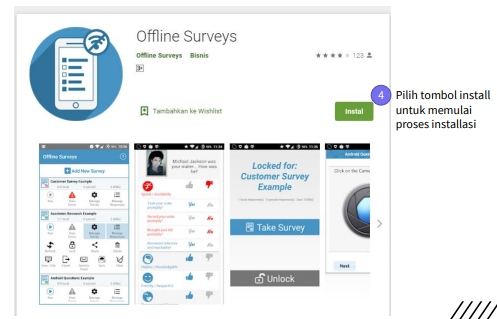 Instal Aplikasi Offline Surveys