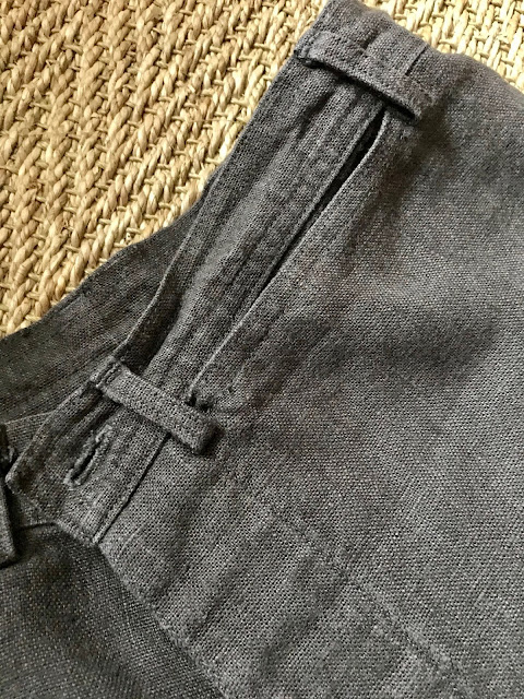 Diary of a Chain Stitcher: Anna Allen Persephone Pants in Washed Linen from The Cloth Shop