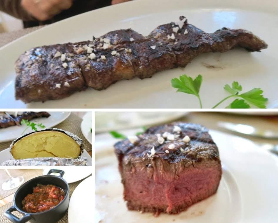 Entrana Solomillo マドリードのグリル店で食べたステーキと付け合わせ
