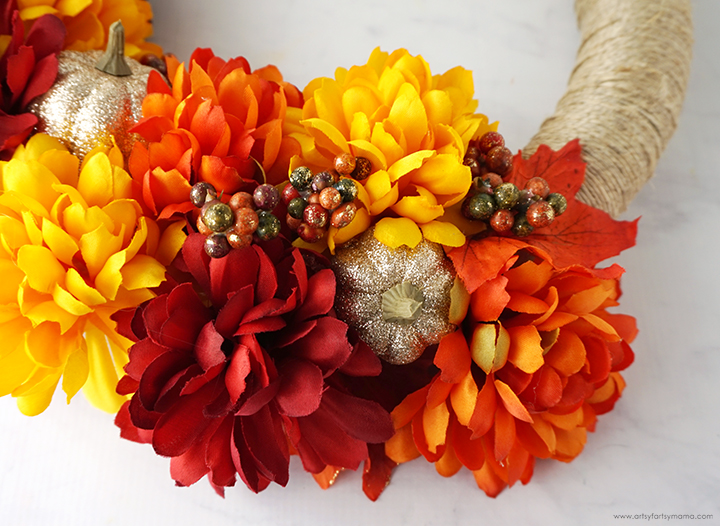 Fall Wreath Flowers
