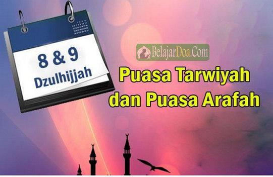 Lafal Bacaan Doa Niat Puasa Arafah dan Tarwiyah di Bulan Haji Dzulhijjah Idul Adha Lebaran Kurban