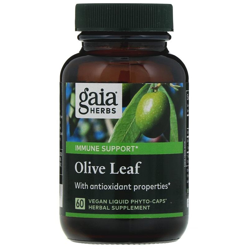 Gaia Herbs, Листья оливы, 60 веганских капсул Liquid Phyto-Caps