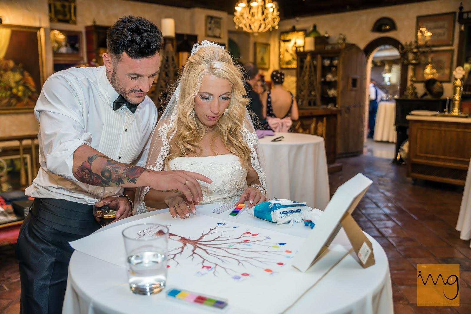 Los invitados dejaron su huella en la boda