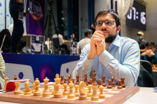 Le Français Maxime Vachier-Lagrave à la coupe du monde d'échecs 2021  - Photo © Eric Rosen