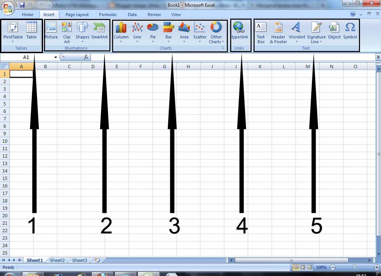 Fungsi Menu Insert Pada Microsoft Excel