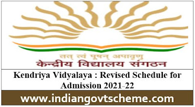 Revised Schedule for Admission 2021-22