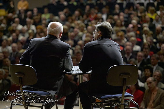 Pianist Andrej Gavrilov und Michail Gorbatschow